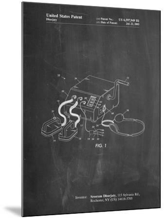 Defibrillator Patent-Cole Borders-Mounted Art Print