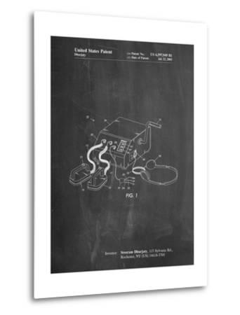 Defibrillator Patent-Cole Borders-Metal Print