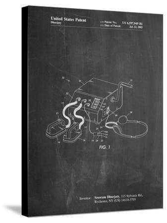 Defibrillator Patent-Cole Borders-Stretched Canvas Print
