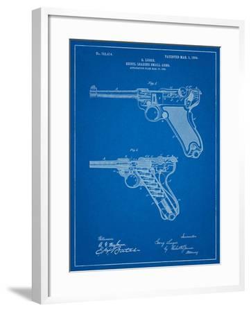 Luger Pistol Patent-Cole Borders-Framed Art Print