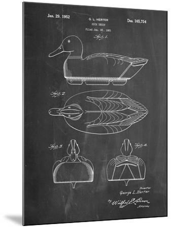 Duck Decoy Patent-Cole Borders-Mounted Art Print
