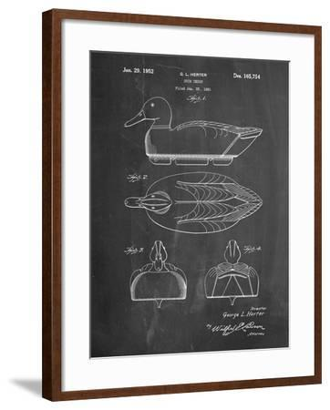 Duck Decoy Patent-Cole Borders-Framed Art Print