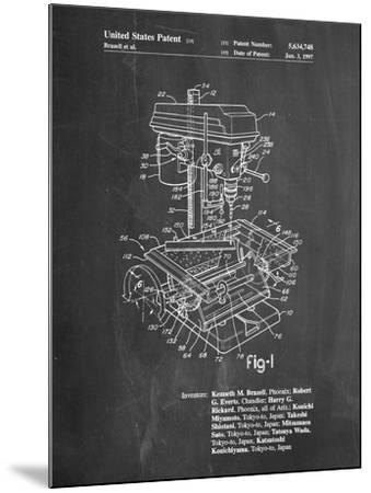 Drill Press Patent-Cole Borders-Mounted Art Print