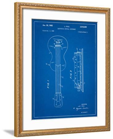 Gibson Les Paul Guitar Patent-Cole Borders-Framed Art Print