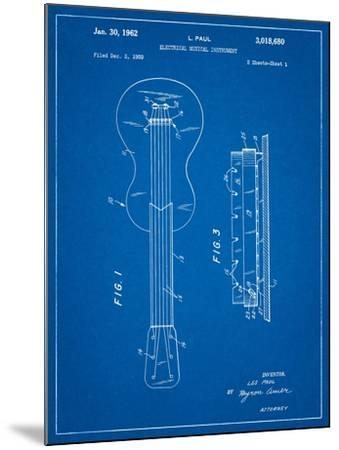Gibson Les Paul Guitar Patent-Cole Borders-Mounted Art Print