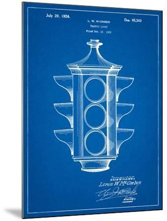 Traffic Light 1923 Patent-Cole Borders-Mounted Art Print