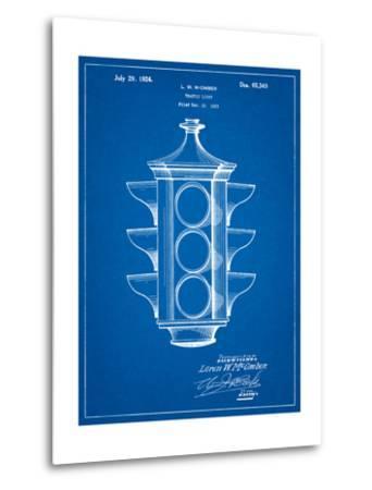 Traffic Light 1923 Patent-Cole Borders-Metal Print