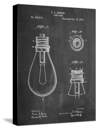 Edison Lamp Base Patent Print-Cole Borders-Stretched Canvas Print