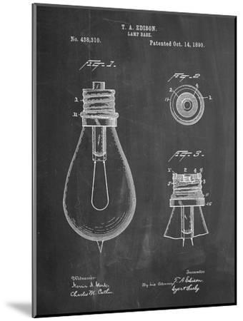Edison Lamp Base Patent Print-Cole Borders-Mounted Premium Giclee Print