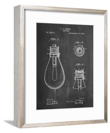 Edison Lamp Base Patent Print-Cole Borders-Framed Premium Giclee Print