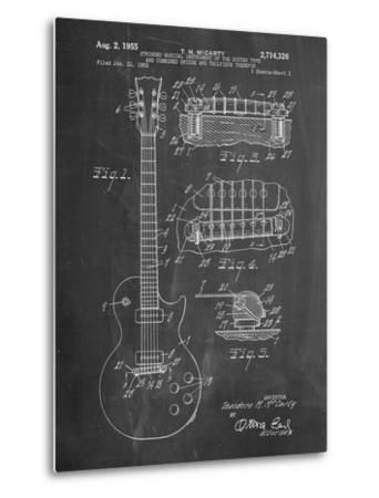 Gibson Les Paul Guitar Patent-Cole Borders-Metal Print