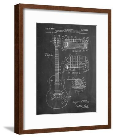 Gibson Les Paul Guitar Patent-Cole Borders-Framed Premium Giclee Print