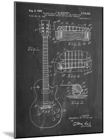 Gibson Les Paul Guitar Patent-Cole Borders-Mounted Premium Giclee Print