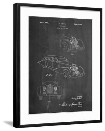 GM Cadillac Concept Design Patent-Cole Borders-Framed Art Print
