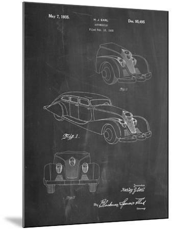 GM Cadillac Concept Design Patent-Cole Borders-Mounted Art Print