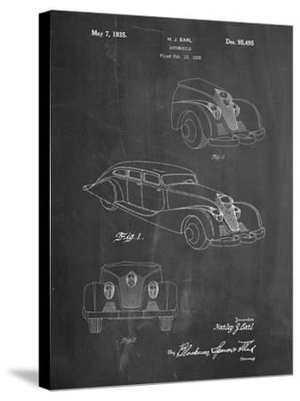 GM Cadillac Concept Design Patent-Cole Borders-Stretched Canvas Print