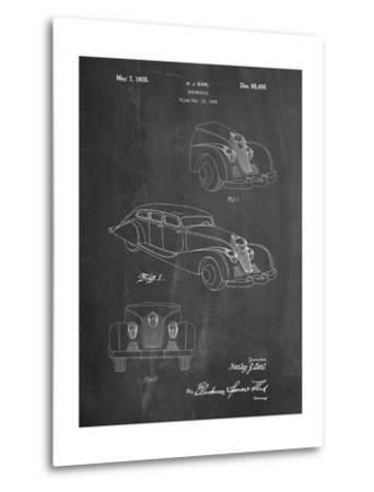 GM Cadillac Concept Design Patent-Cole Borders-Metal Print