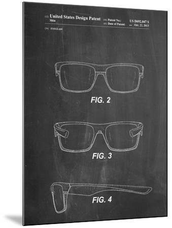 Two Face Prizm Oakley Sunglasses Patent-Cole Borders-Mounted Art Print