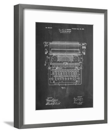Underwood Typewriter Patent-Cole Borders-Framed Premium Giclee Print