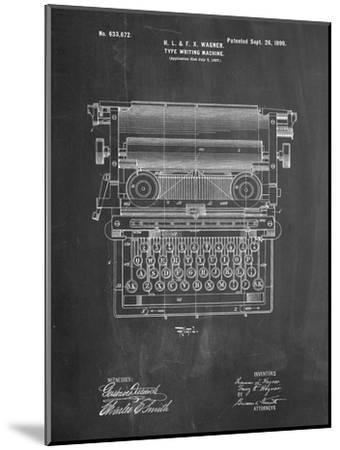 Underwood Typewriter Patent-Cole Borders-Mounted Premium Giclee Print
