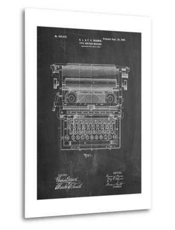 Underwood Typewriter Patent-Cole Borders-Metal Print