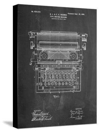 Underwood Typewriter Patent-Cole Borders-Stretched Canvas Print