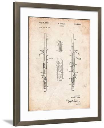 Bassoon Patent-Cole Borders-Framed Art Print