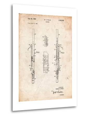 Bassoon Patent-Cole Borders-Metal Print