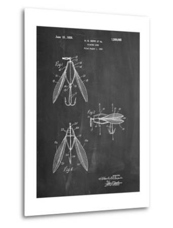 Surface Fishing Lure Patent-Cole Borders-Metal Print
