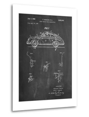1960 Porsche 365 Patent-Cole Borders-Metal Print
