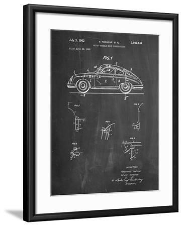 1960 Porsche 365 Patent-Cole Borders-Framed Art Print