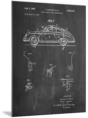 1960 Porsche 365 Patent-Cole Borders-Mounted Art Print
