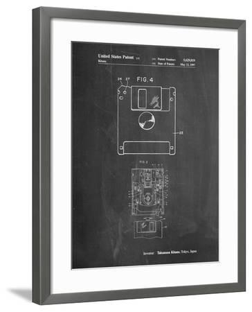 3 1/2 Inch Floppy Disk Patent-Cole Borders-Framed Art Print