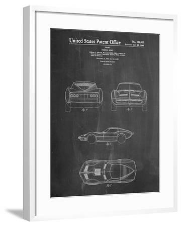 1966 Corvette Mako Shark II Patent-Cole Borders-Framed Art Print