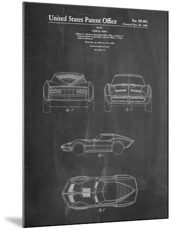 1966 Corvette Mako Shark II Patent-Cole Borders-Mounted Art Print