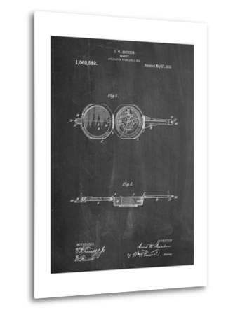 Pocket Transit Compass 1919 Patent-Cole Borders-Metal Print