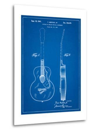 Gretsch 6022 Rancher Guitar Patent-Cole Borders-Metal Print