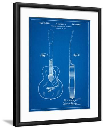 Gretsch 6022 Rancher Guitar Patent-Cole Borders-Framed Art Print