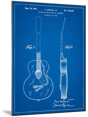 Gretsch 6022 Rancher Guitar Patent-Cole Borders-Mounted Art Print