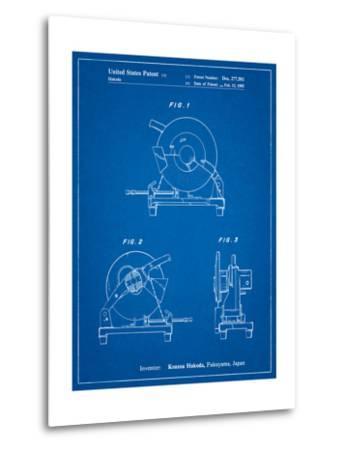 Chop Saw Patent-Cole Borders-Metal Print