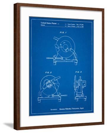 Chop Saw Patent-Cole Borders-Framed Art Print