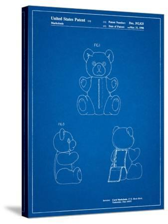 Teddy Bear-Cole Borders-Stretched Canvas Print