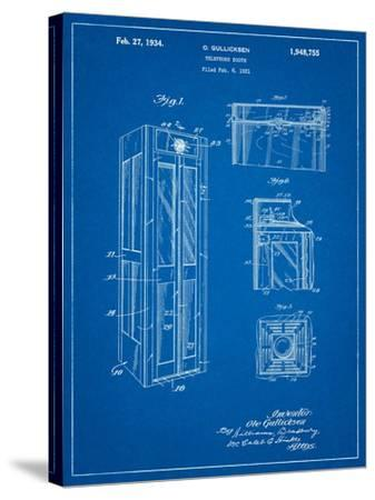 Telephone Booth Patent-Cole Borders-Stretched Canvas Print