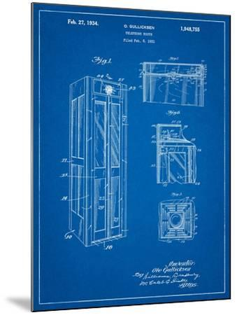 Telephone Booth Patent-Cole Borders-Mounted Art Print