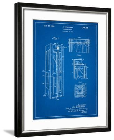 Telephone Booth Patent-Cole Borders-Framed Art Print