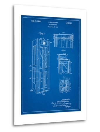 Telephone Booth Patent-Cole Borders-Metal Print