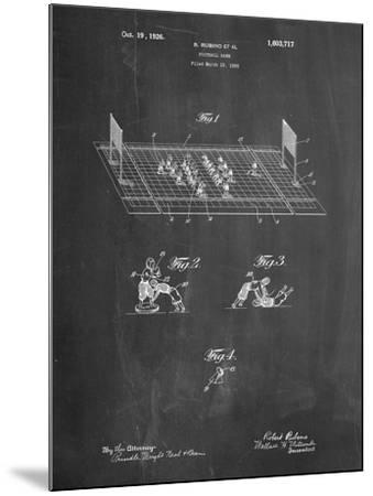 Football Board Game Patent-Cole Borders-Mounted Art Print