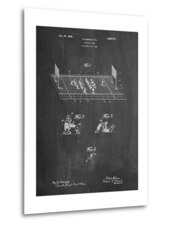 Football Board Game Patent-Cole Borders-Metal Print