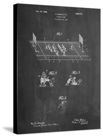 Football Board Game Patent-Cole Borders-Stretched Canvas Print