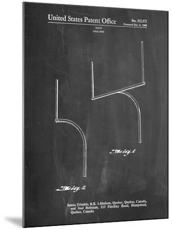Football Goal Post Patent Print-Cole Borders-Mounted Art Print